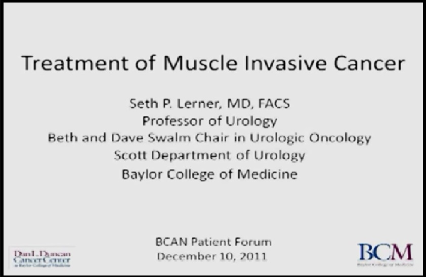 (lecture:treatment of muscle invasive bladder cancer